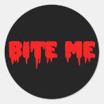 "Bloody ""Bite Me"" Sticker"
