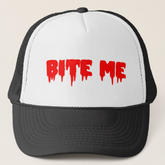"Bloody ""Bite Me"" Trucker Hat"