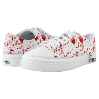 Bloody Blood Mess Drips Splatters Low-Top Sneakers