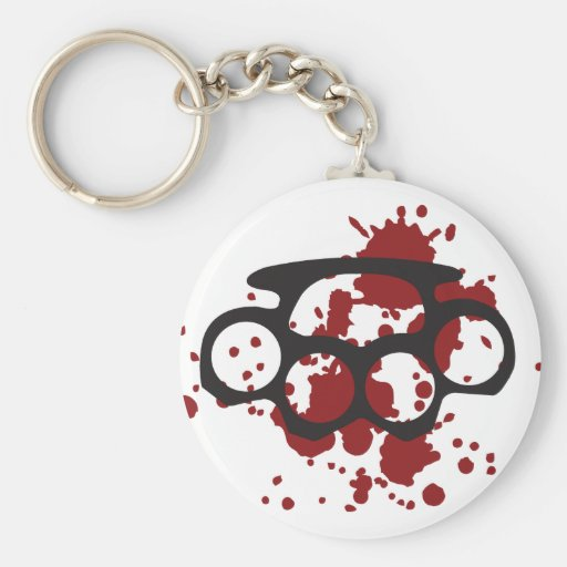 bloody brass knuckles key chains