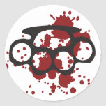bloody brass knuckles stickers