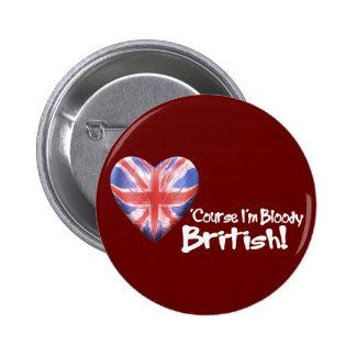 Bloody Británicos Pin Redondo De 2 Pulgadas