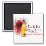 Bloody Bud Drink Recipe 2 Inch Square Magnet
