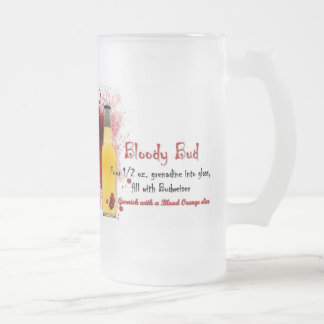 Bloody Bud Drink Recipe Frosted Glass Beer Mug