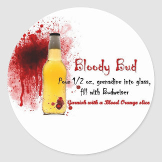 Bloody Bud Drink Recipe Sticker