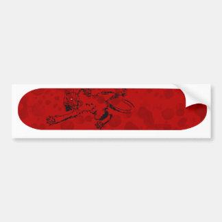 Bloody Cat Car Bumper Sticker