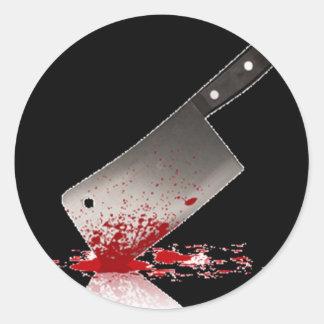 Bloody Cleaver Round Sticker