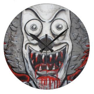 Bloody Clown Large Clock