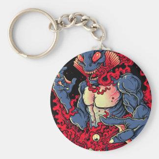 Bloody Creature Basic Round Button Keychain