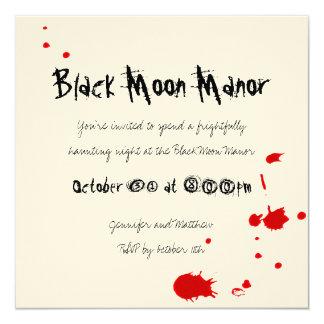 Bloody Devil Halloween Invitation on Cream