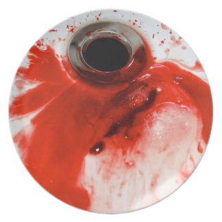 Bloody Drain - Could you eat off food this plate? Melamine Plate