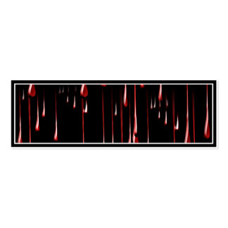 Bloody Drips on Black Background Business Card Templates