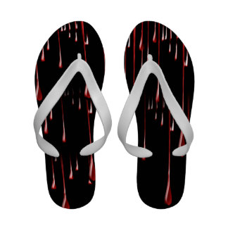 Bloody Drips on Black Background Sandals