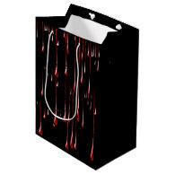 Bloody Drips on Black Background Medium Gift Bag