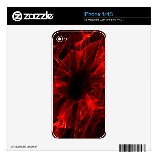 Bloody Flower iPhone 4 Decals