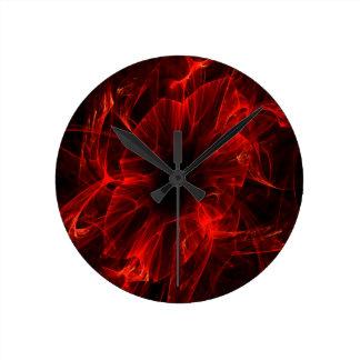 Bloody Flower Round Clock