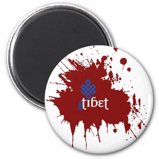 Bloody free tibet refrigerator magnet
