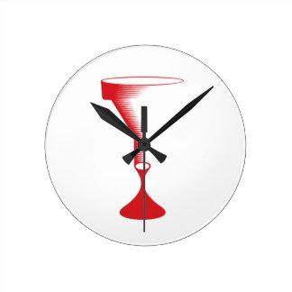 bloody funnel round clock