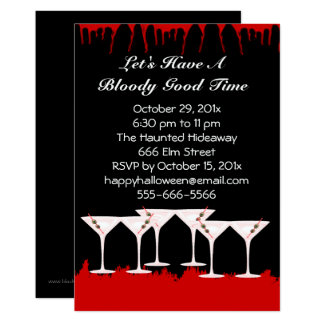 Bloody Good Time Halloween Invitation