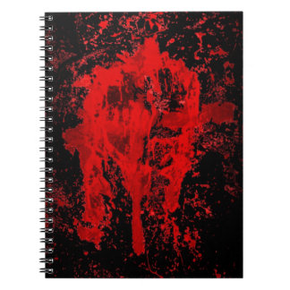Bloody Gothic Pagan Celtic Cross Notebook