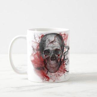 Bloody Grunge Skull Gothic mug