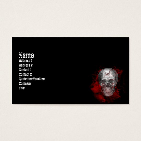Bloody Grunge Vampire Business Card