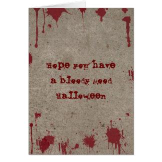 Bloody Halloween Card
