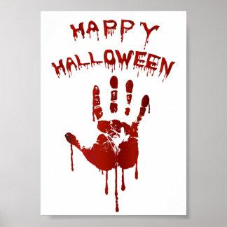 Bloody halloween hand poster