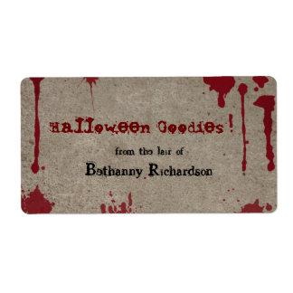 Bloody Halloween Kitchen Label