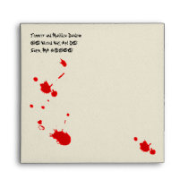 Bloody Halloween Party Envelope