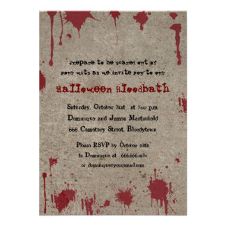 Bloody Halloween Party Invites