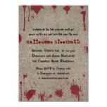 Bloody Halloween Party 4.5x6.25 Paper Invitation Card