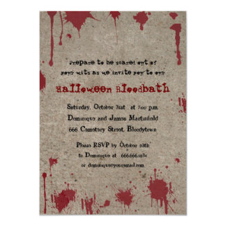 Bloody Halloween Party Invites