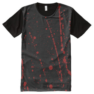 Bloody Halloween, Red Blood Spatter Creepy All-Over-Print Shirt