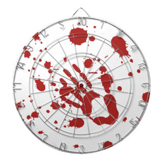 Bloody Hand Blood Spatter Halloween Party Games Dartboard