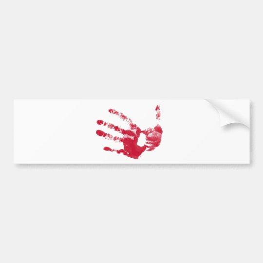 Bloody Hand Bumper Sticker