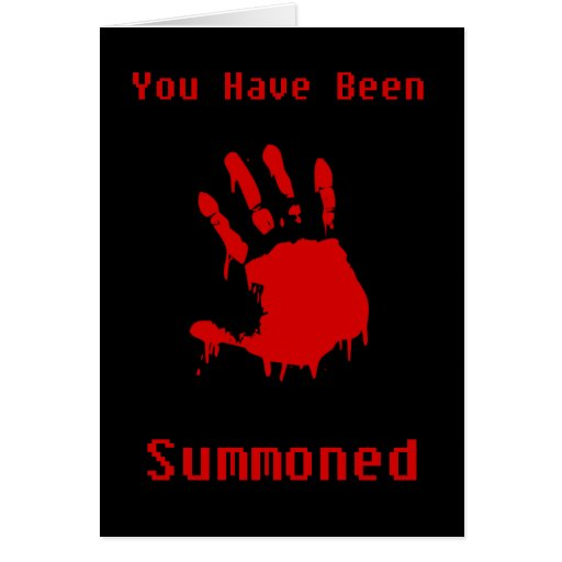 Bloody Hand Halloween Invite Greeting Card