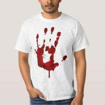 Bloody Hand Print T Shirt