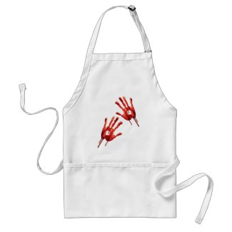 Bloody Hand Prints Aprons