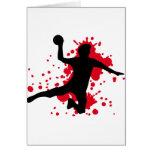 bloody handball dodgeball greeting cards