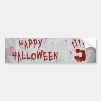 Bloody Handprint Halloween - Bumper Sticker