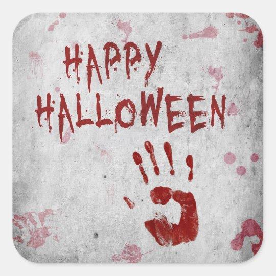 Bloody Handprint Halloween - Sticker