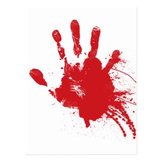 Bloody Handprint Postcard