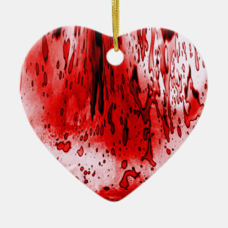Bloody Heart Ceramic Ornament