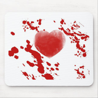 Bloody Heart Mouse Pad
