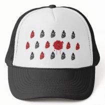 Bloody Heart Pattern Trucker Hat