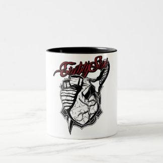 Bloody Heart Two-Tone Coffee Mug