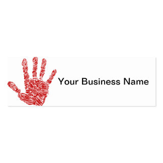 Bloody Horror Red Hand Print Sketch Business Card Template