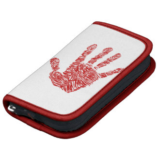Bloody Horror Red Hand Print Sketch Organizers