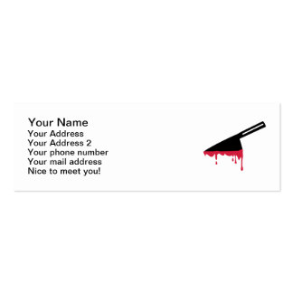 Bloody knife business card